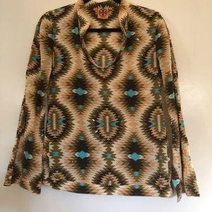 Tory Burch Aztec long sleeve tunic